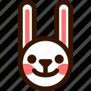 animal, easter, emoji, emoticon, happy, hare, rabbit icon