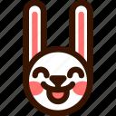 animal, easter, emoji, emoticon, hare, imp, rabbit icon