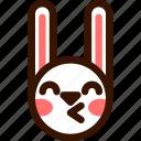 animal, easter, emoji, emoticon, hare, kiss, rabbit icon
