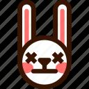 animal, easter, emoji, emoticon, hare, lifeless, rabbit icon
