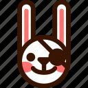 animal, easter, emoji, emoticon, hare, pirate, rabbit icon