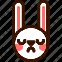 animal, easter, emoji, emoticon, hare, proud, rabbit icon