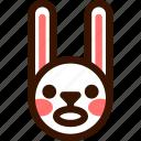 animal, easter, emoji, emoticon, hare, rabbit, scared icon