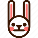 animal, easter, emoji, emoticon, hare, rabbit, serious icon