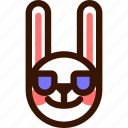 animal, easter, emoji, emoticon, hare, rabbit, sunglasses icon