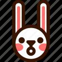 animal, easter, emoji, emoticon, hare, rabbit, surprised icon