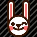 animal, easter, emoji, emoticon, hare, rabbit, wink icon