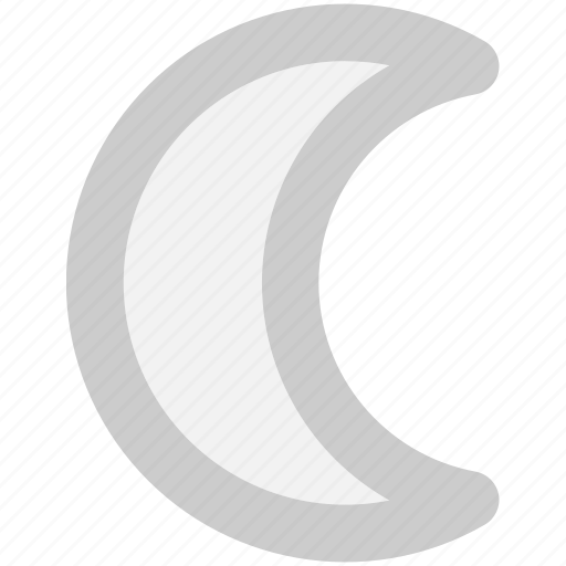 moon, night, planet icon