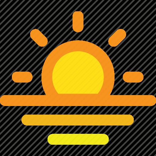 Ocean, sea, sun, sunrise, sunset icon - Download on Iconfinder