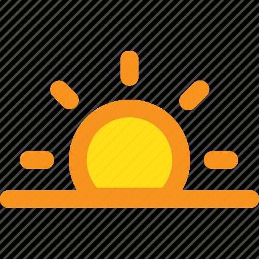 ocean, sea, sun, sunrise, sunset icon