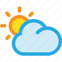 cloud, summer, sun, sunset icon