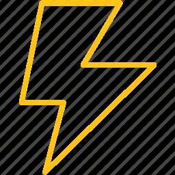 forecast, lightning, storm, thunder, thunderbolt icon