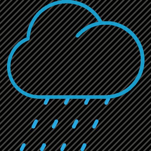 cloud, forecast, rain, raining icon