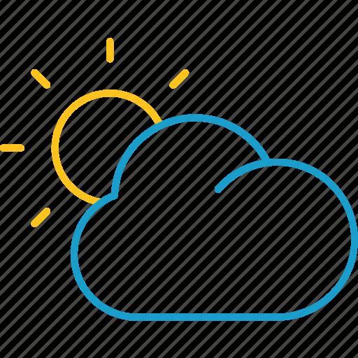 cloud, cloudy, summer, sun, sunset icon