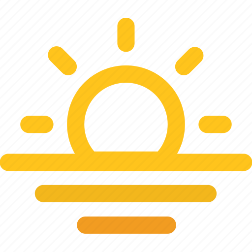 ocean, sea, sun, sunrise, sunset icon