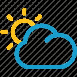 cloud, summer, sun, sunset icon