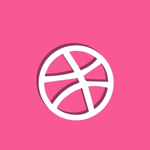 ball, dribbble, social icon