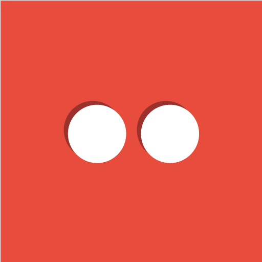 dots, flickr, social icon
