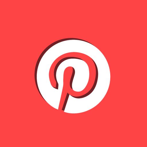 p, pinterest, social icon