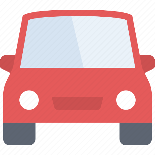 auto, car, red, transport, transportation, vehicle, windshield icon