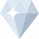 briliant, diamond, gem, jewel, jewelry, ring, stone icon