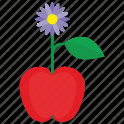 apple, bud, flower, fruit, plant icon