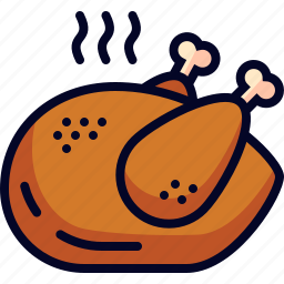 chicken, dinner, food, meal icon