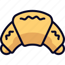 croissant, dessert, food, snack icon
