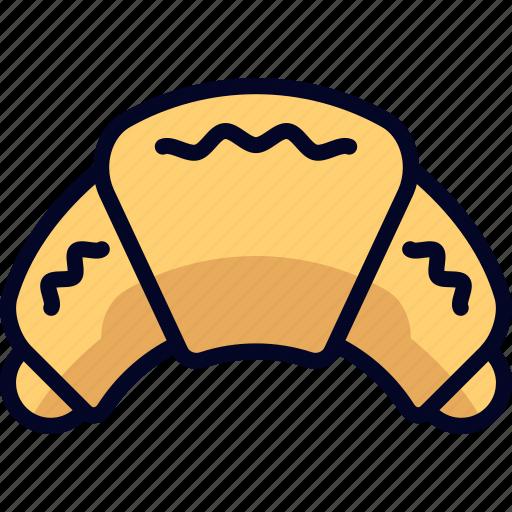 croissant, dessert, food, snack icon