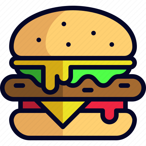 burger, dinner, food, hamburger, lunch, meal icon