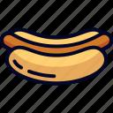 food, hotdog, snack