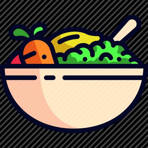 carrot, lemon, salad, tomato, vegetables icon