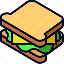 bread, food, lunch, sandwich, snack icon