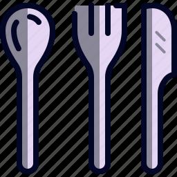 fork, kitchen, knife, spoon, utensils icon