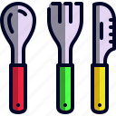 fork, kitchen, knife, spoon, utensils icon
