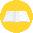 book, diary, notebook, planner, study, work, write icon