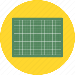 cut, desk, grid, mat icon