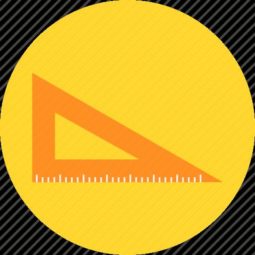 math, mathmatics, measurement, set square, triangle icon