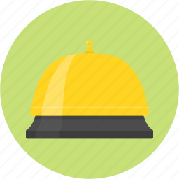bell, consumer relation, customer, hotel, room service, service icon