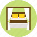 bed, bedroom, hotel, journey, rest, stay, trip icon