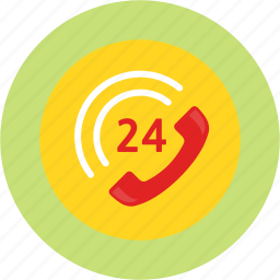 care, customer service, emergency, hotel, room service, telephone, time icon