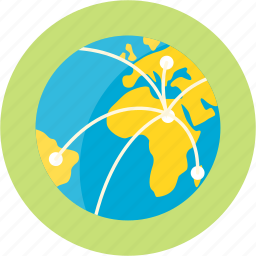 commerce, earth, export, globe, journey, shipping, trade icon