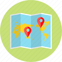 journey, location, lough map, map, position, site, world icon