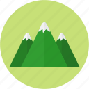camping, flight, mountain, nature, snow icon