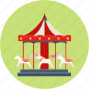 amusement park, break, children's day, holiday, merry-go-round, trip icon