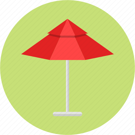 beach umbrella, hotel, parasol, patio umbrella, pool, rest, water park icon