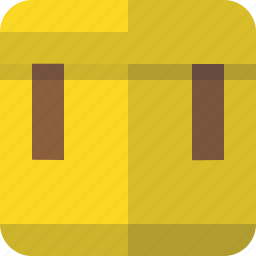 attached, box, container, delivery, package icon