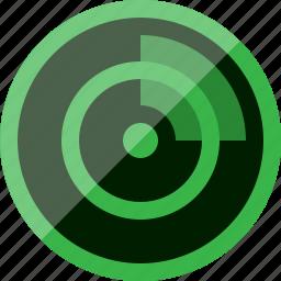 connection, radar, scan, signal icon