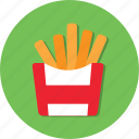 food, french fried, fried, potato icon