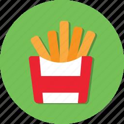 food, french fried, fried, potato icon